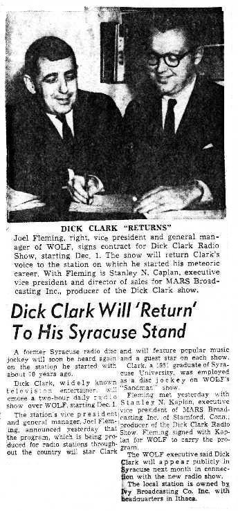 Syracuse Post Standard 10/19/62