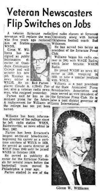 Syracuse Post Standard 3/14/64